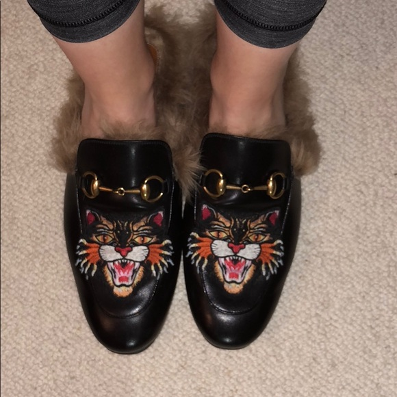 780effa0b86 Gucci Shoes - Gucci Princetown angry cat slippers
